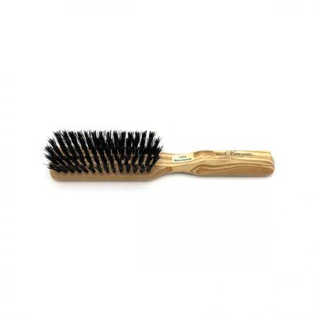 Haarbürste länglich mit festen Wildschweinborsten
