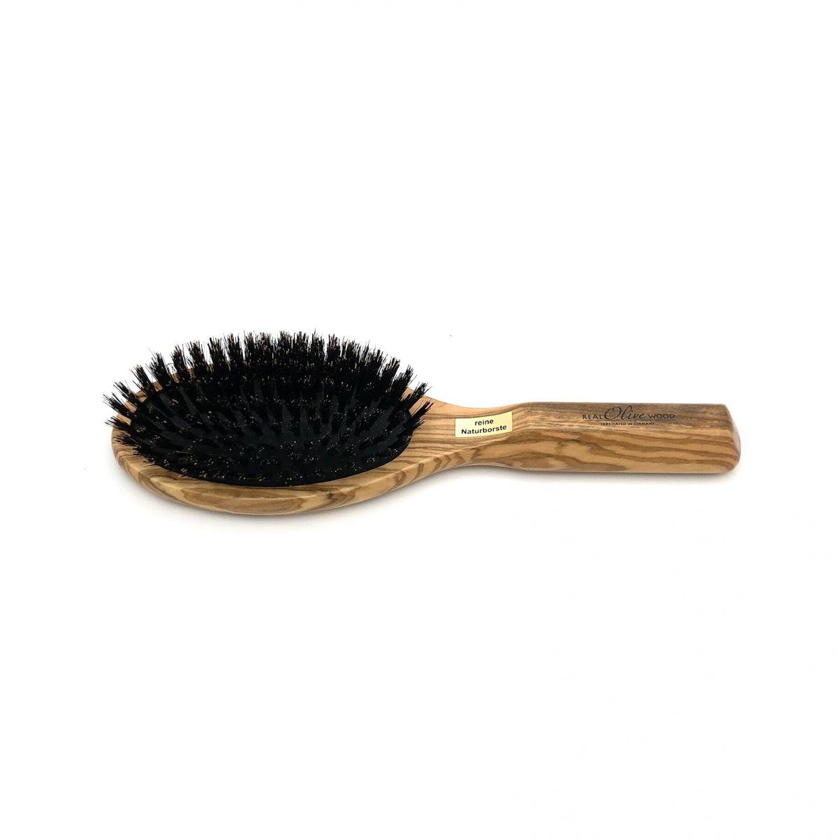 Haarbürste groß oval mit mittelfesten Wildschweinborsten