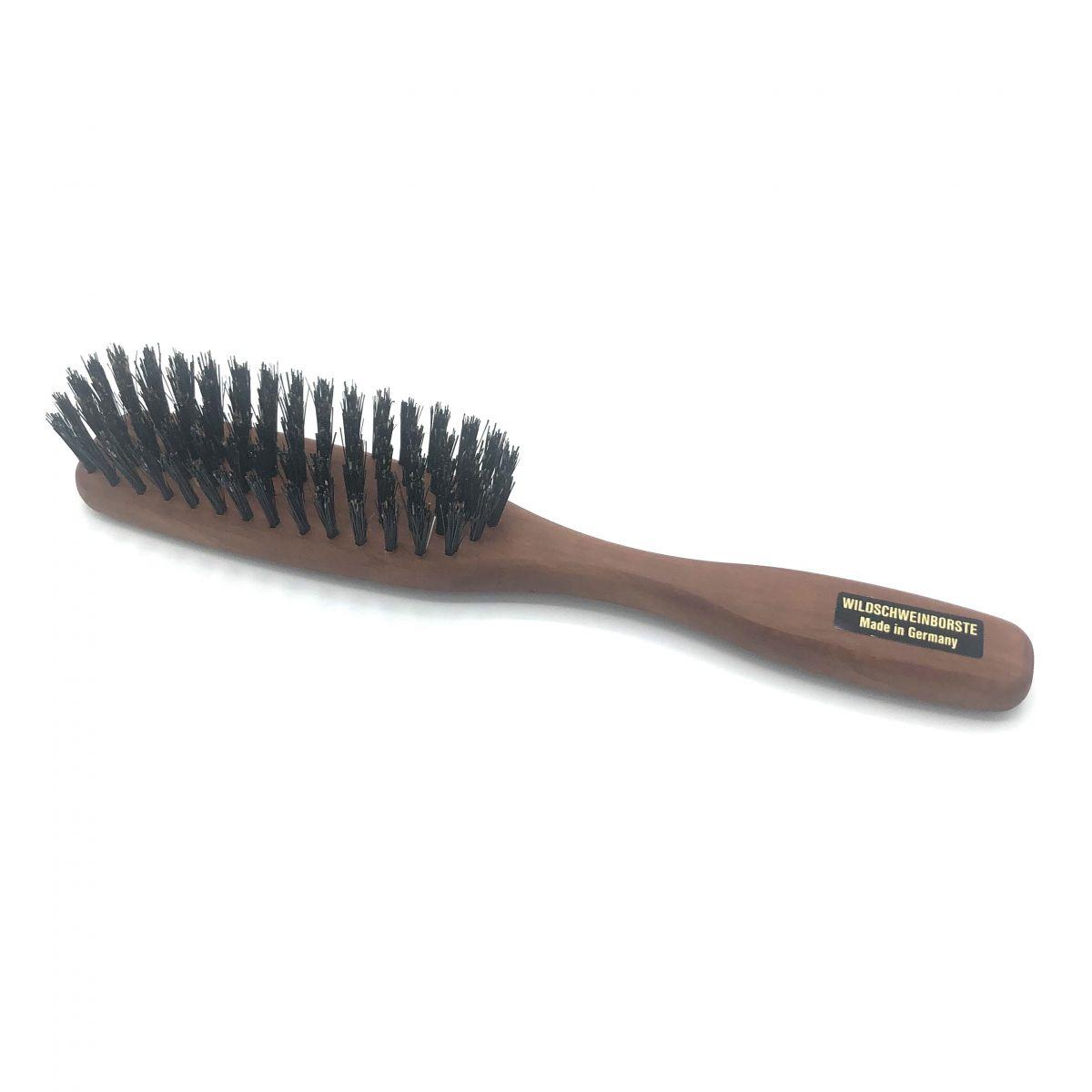 Haarbürste schmal mit festen Wildschweinborsten