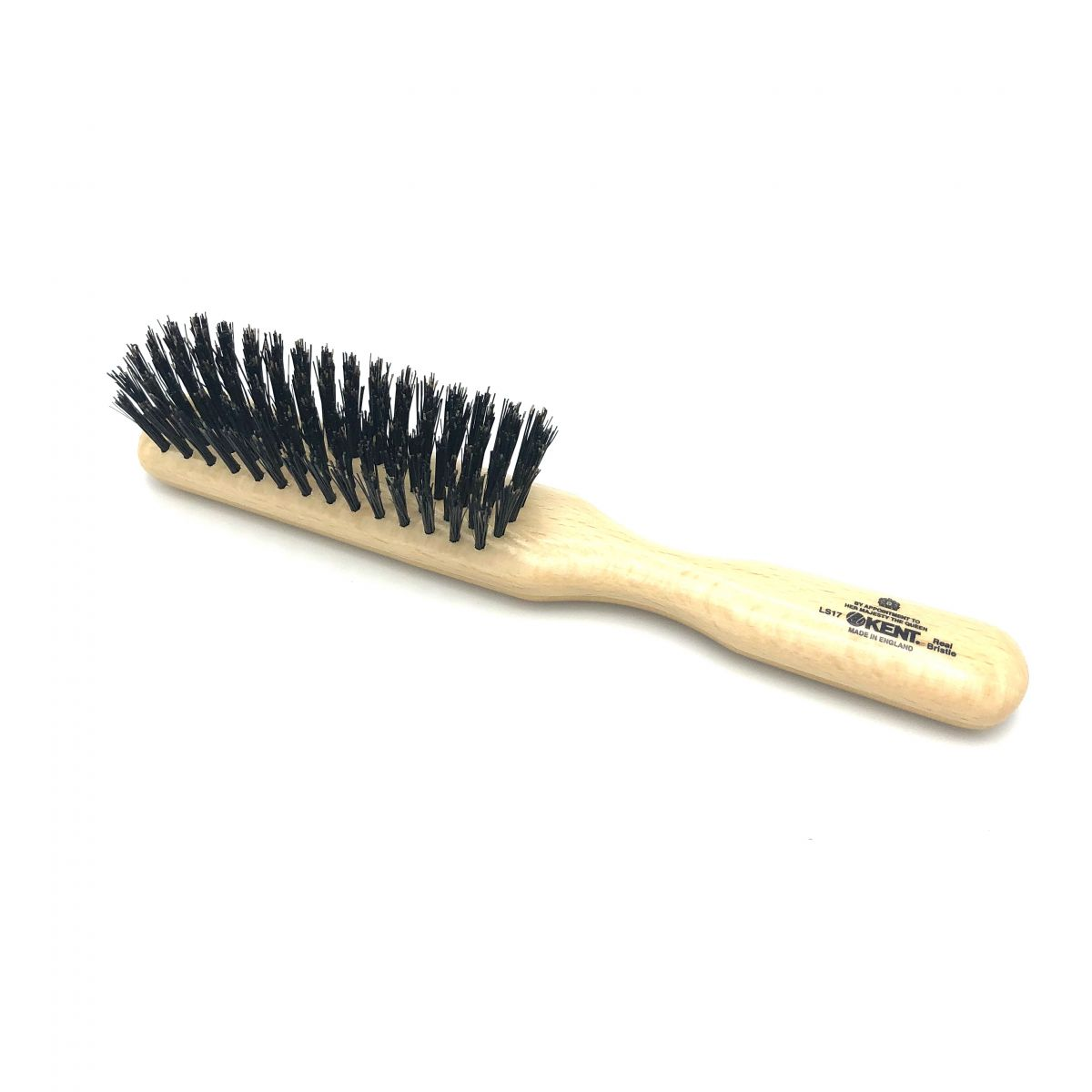 Haarbürste schmal mit extra festen Wildschweinborsten