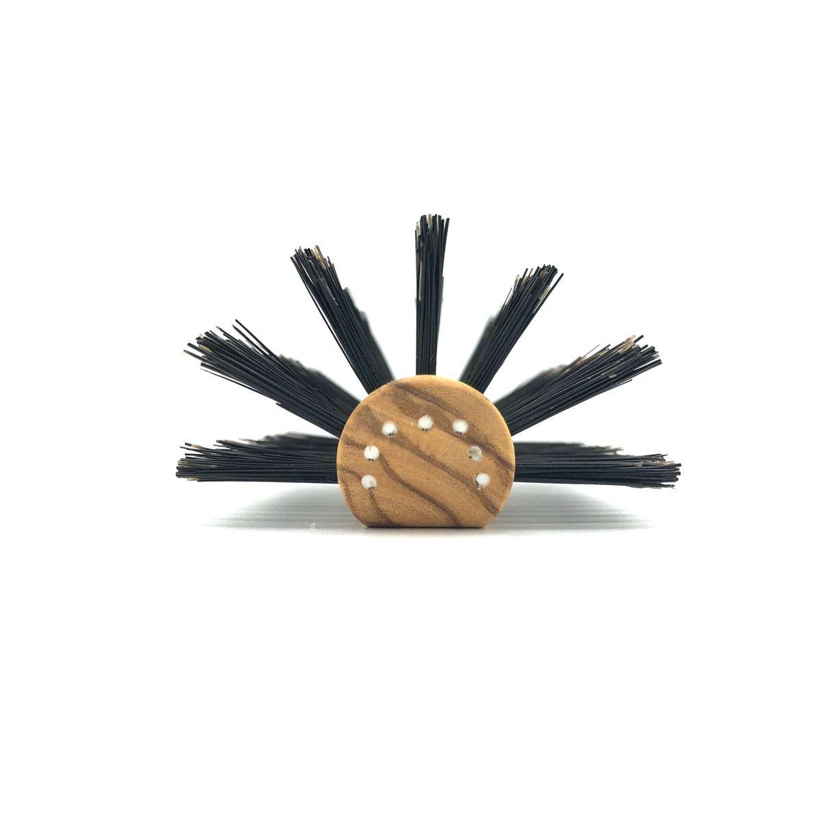 Haarbürste halbrund mit extra festen Wildschweinborsten