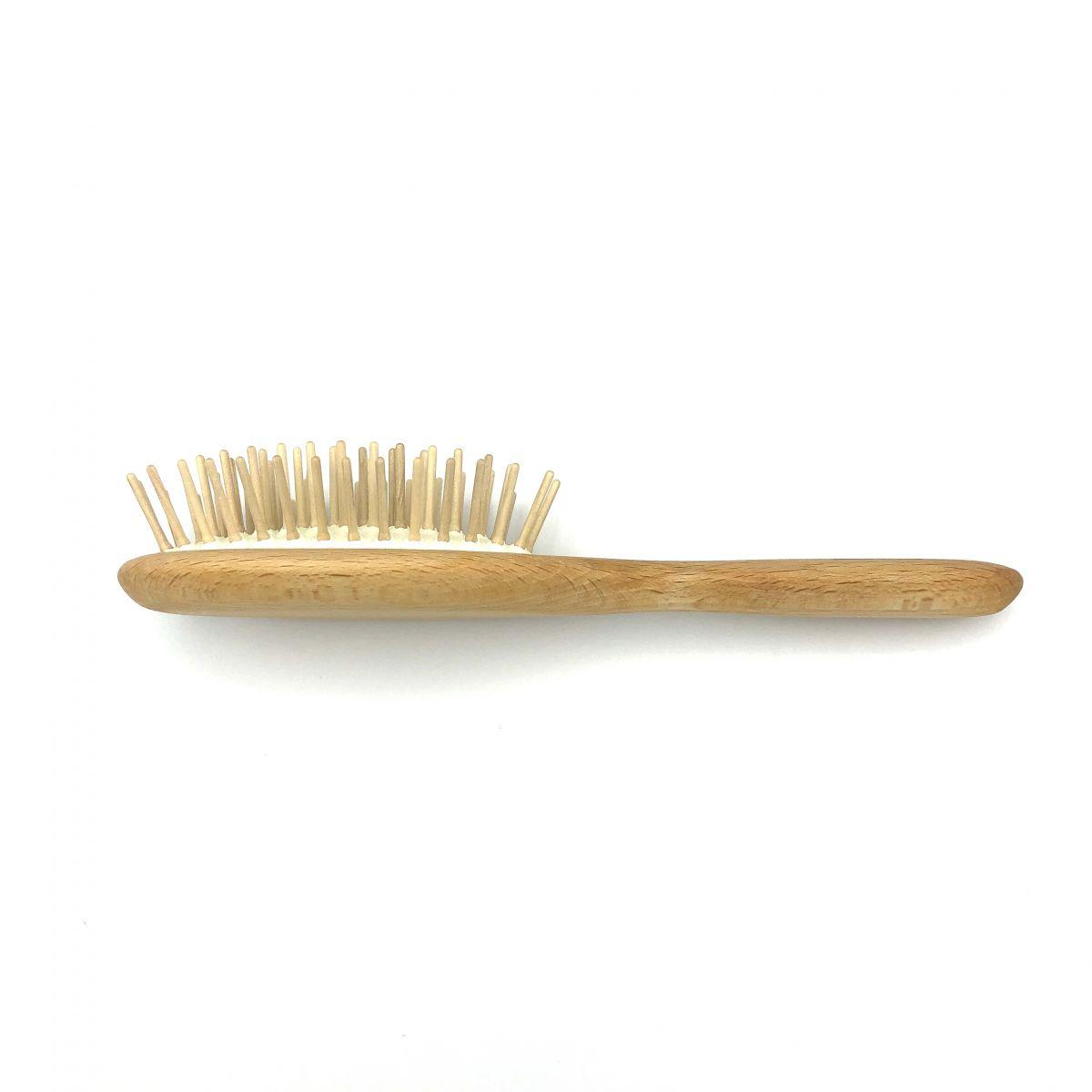 Haarbürste klein oval mit Holzstiften