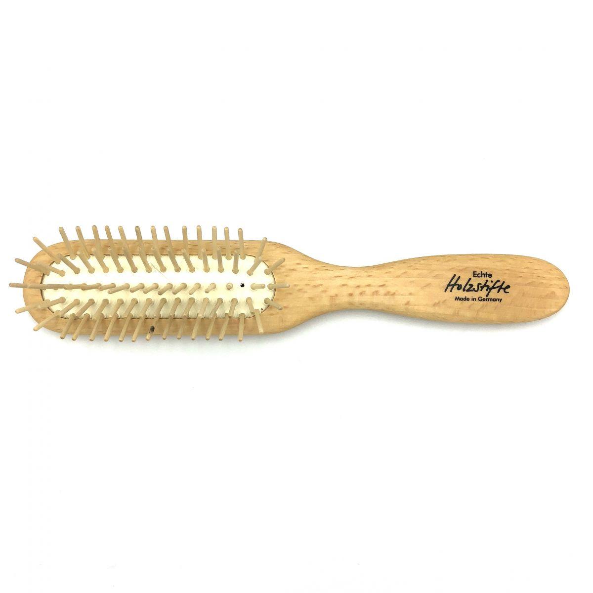 Haarbürste schmal mit Holzstiften