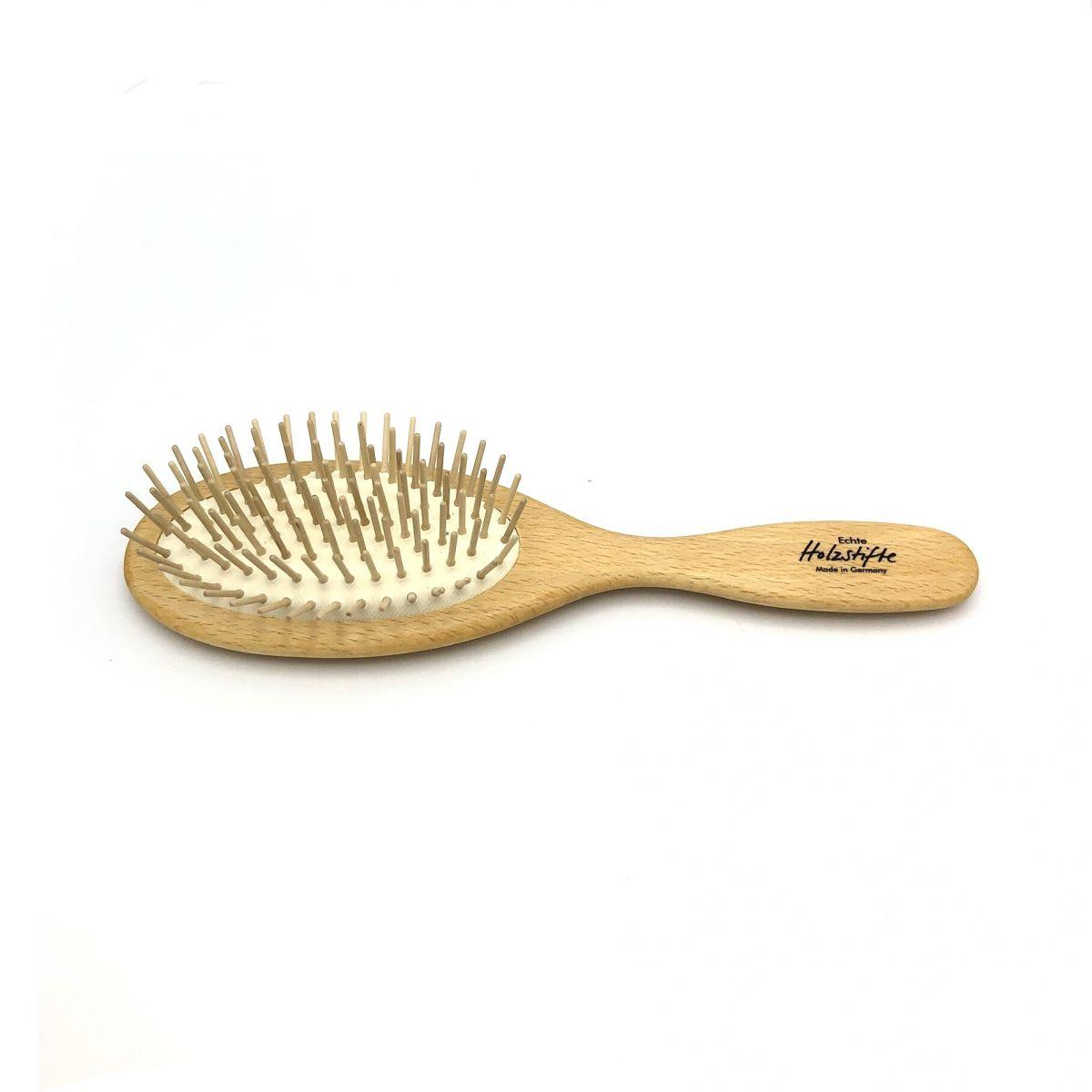Haarbürste groß oval mit Holzstiften