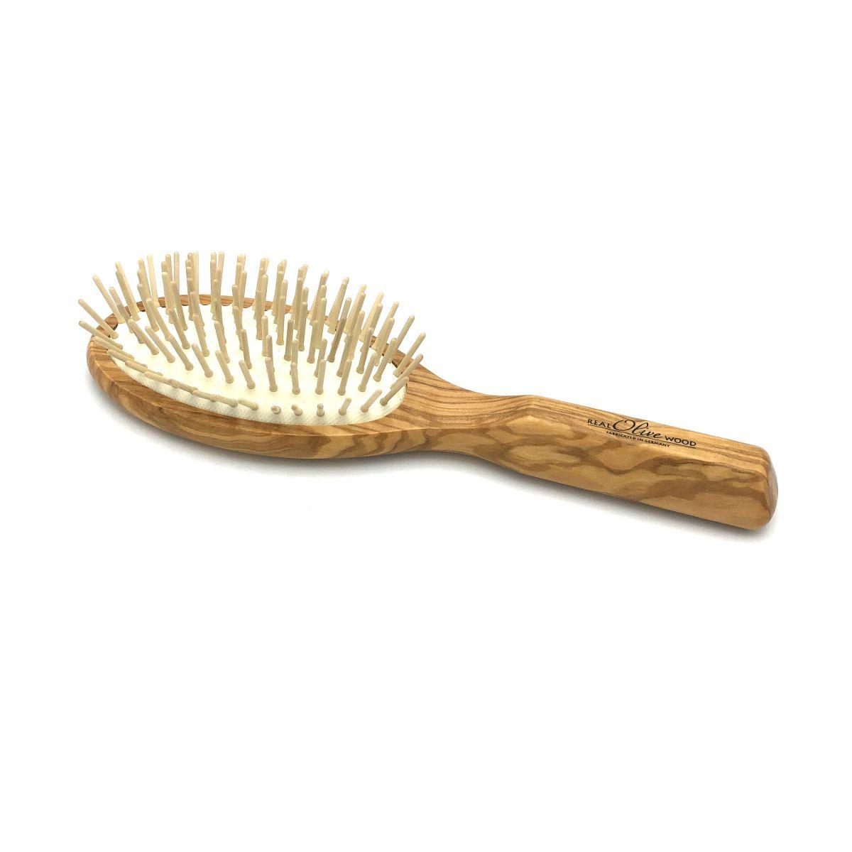 Haarbürste Olivia groß oval mit Holzstiften