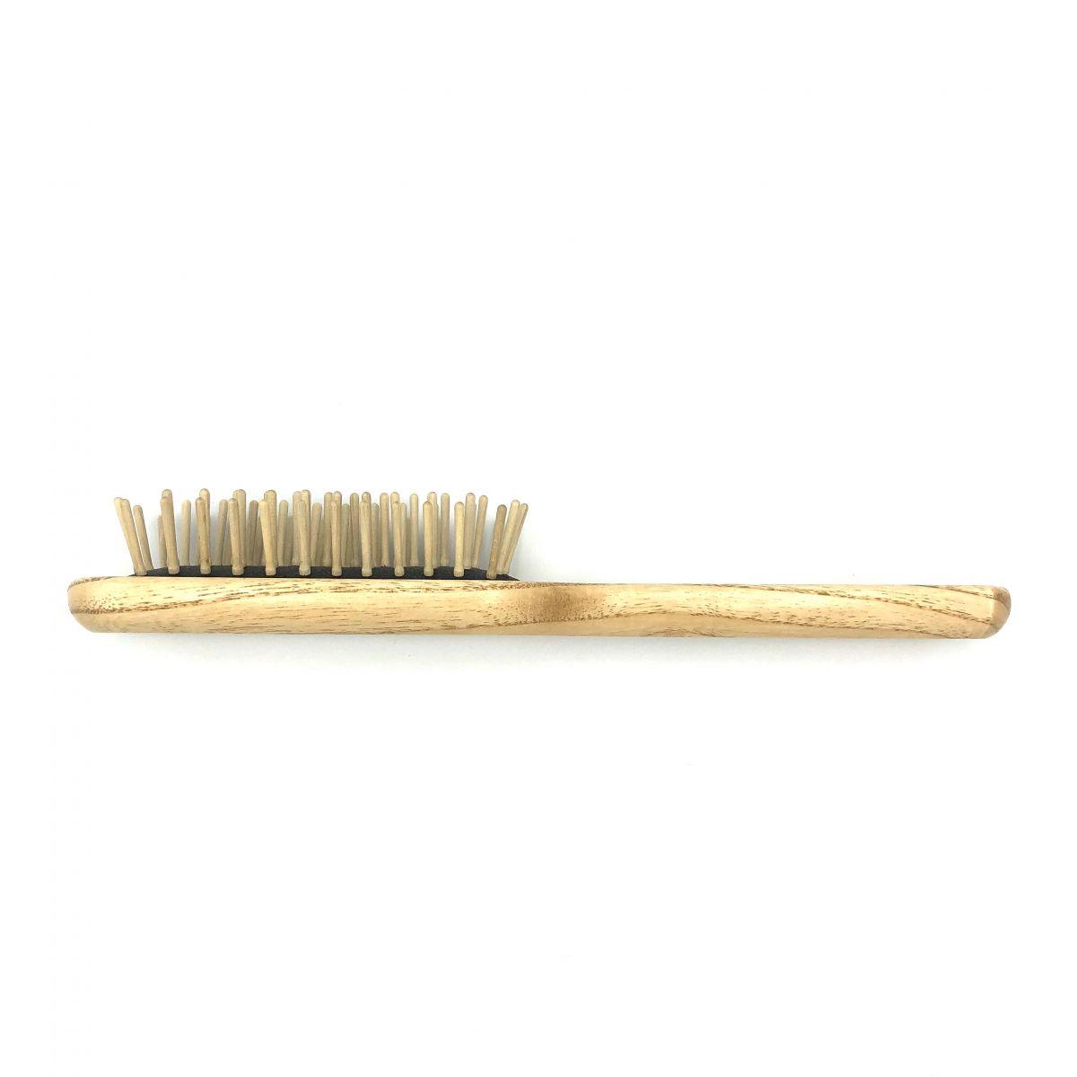 Haarbürste TEK, schmal mit Holzstiften