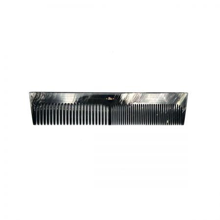 Frisierkamm 16,5 cm aus dunkel gemasertem Rinderhorn