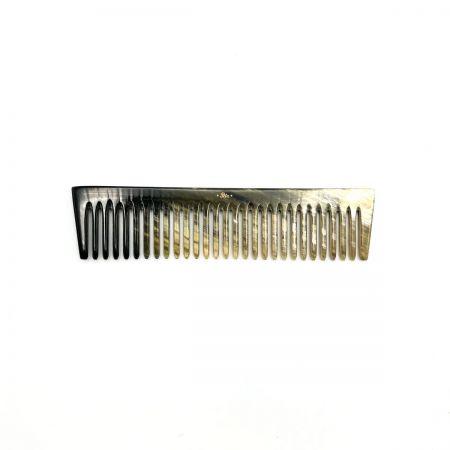 Frisierkamm 15,5 cm aus dunkel gemasertem Rinderhorn