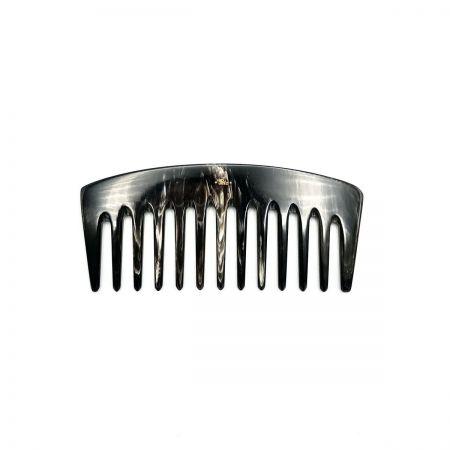 Stylingkamm 13,5 cm aus dunkel gemasertem Rinderhorn