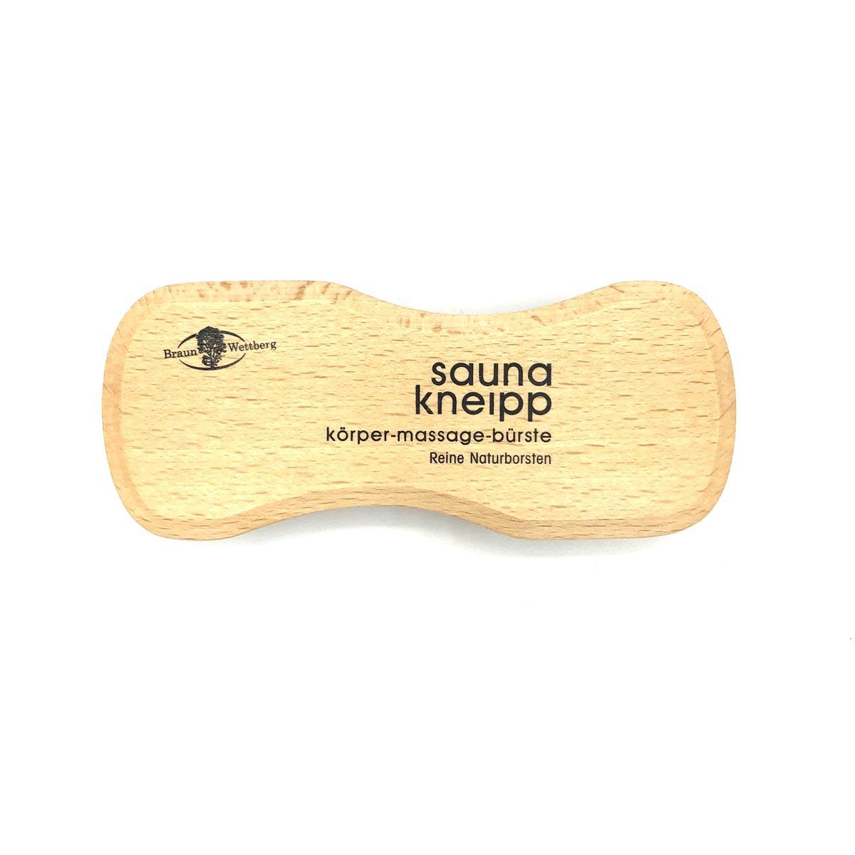 Massagebürste 'sauna kneipp' mit mittelfesten Naturborsten