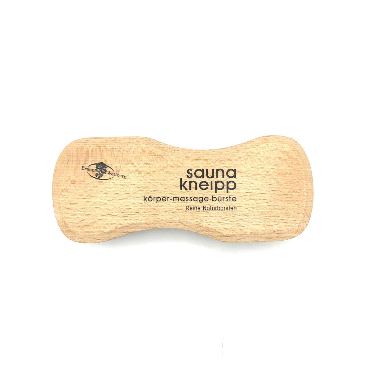 Massagebürste 'sauna kneipp' mit festen Naturborsten