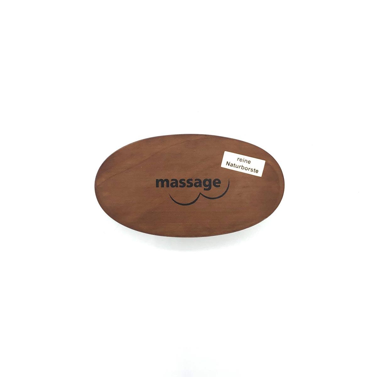 Massagebürste klein mit weichen Schweineborsten