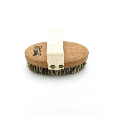 Massagebürste 'wellfit' mit fester Planzenfasermischung