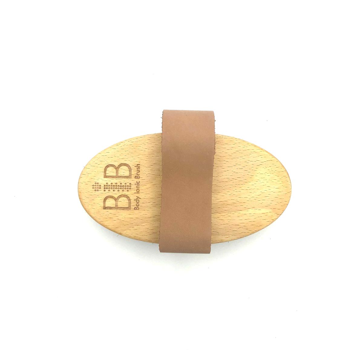 Massagebürste 'Body ionic Brush' mit weichem Bronzedraht