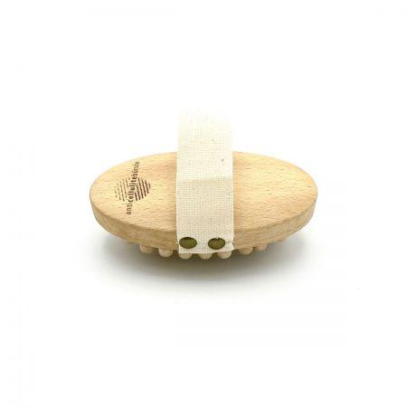 Massagebürste 'anticellulite' mit festen Holznoppen