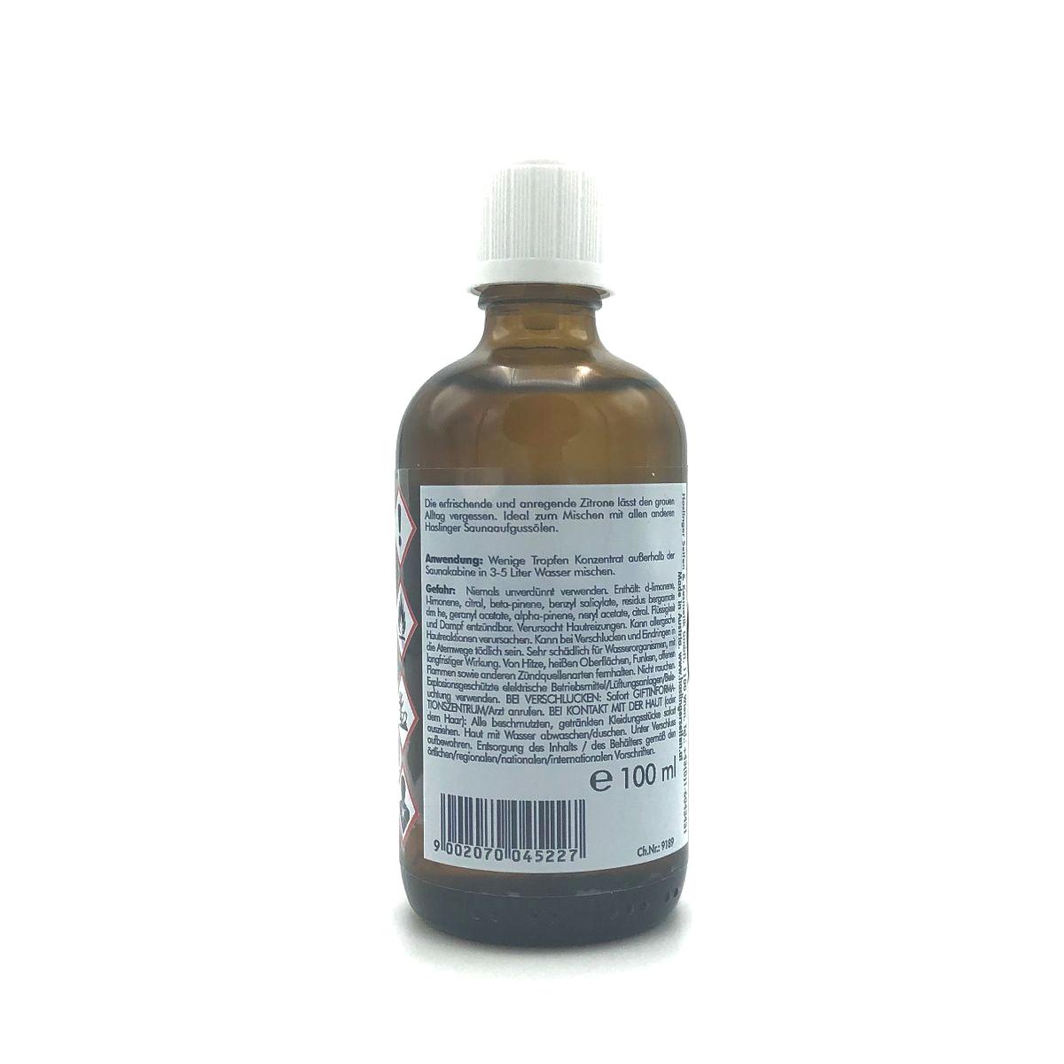 Sauna-Aufguss-Öl 'Zitrone' von HASLINGER