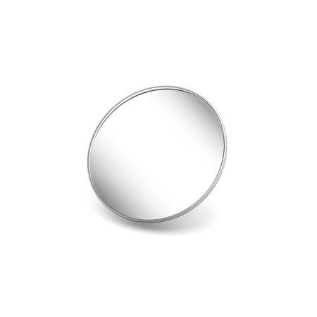Spiegel groß 15,5 cm mit 10facher Vergrößerung