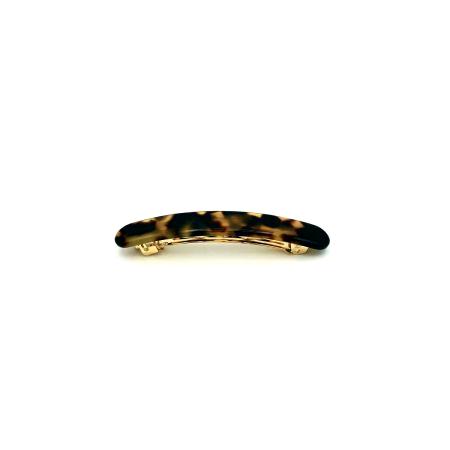 Haarspange schwarz/honig - klein, flach - 7,7 cm