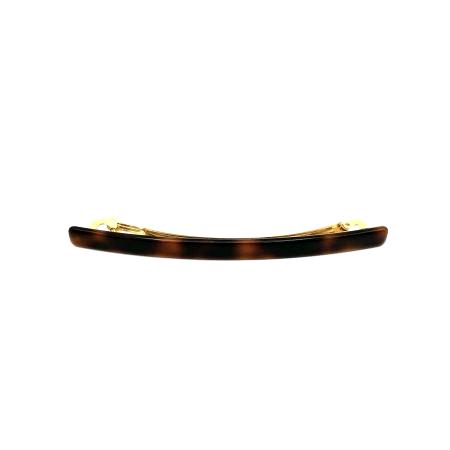 Haarspange rotbraun - lang, flach - 10,3 cm