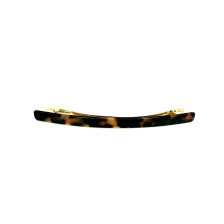 Haarspange schwarz/honig - lang, flach - 10,3 cm