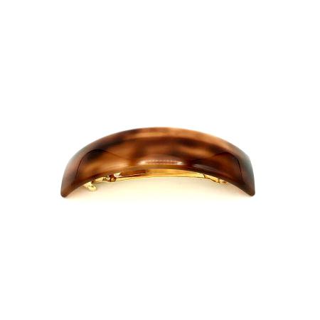 Haarspange rotbraun - groß, gebogen, schmal - 9,5 cm