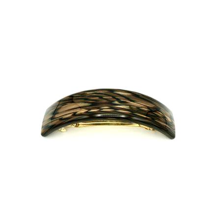 Haarspange dunkelbraun - groß, gebogen, schmal - 9,5 cm