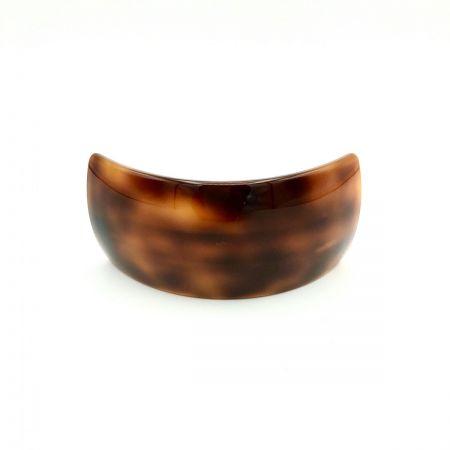 Haarspange rotbraun - groß, gebogen, breit - 9,5 cm