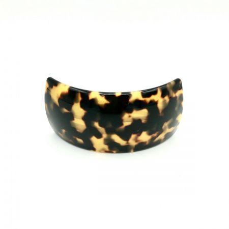 Haarspange schwarz/honig - groß, gebogen, breit - 9,5 cm