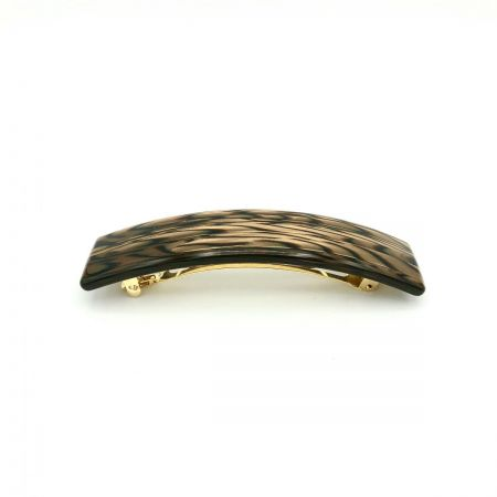 Haarspange dunkelbraun - groß, rechteckig - 10,5 cm