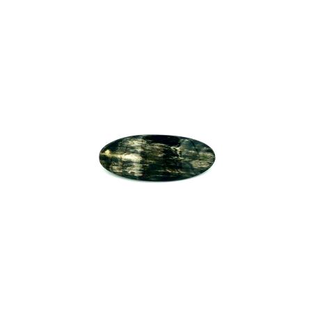 Haarspange aus dunklem Horn - klein, oval - 8,5 cm