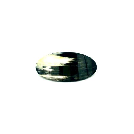 Haarspange aus dunklem Horn - mittel, oval - 10 cm