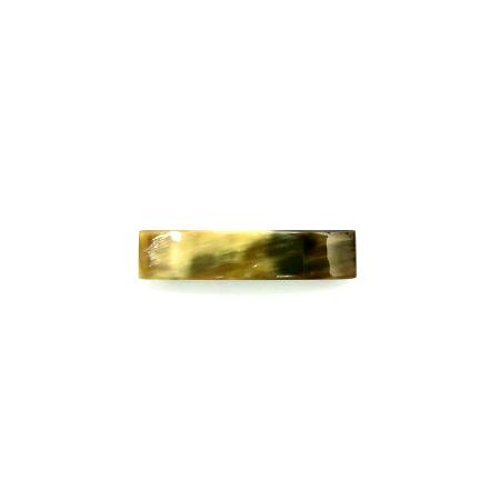 Haarspange aus hellem Horn - klein, rechteckig, schmal 8,5 cm