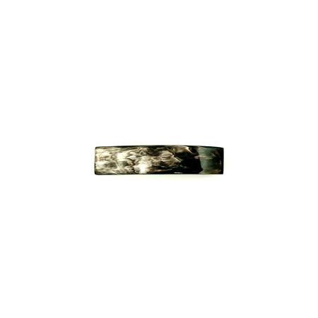 Haarspange aus dunklem Horn - klein, rechteckig, schmal 8,5 cm