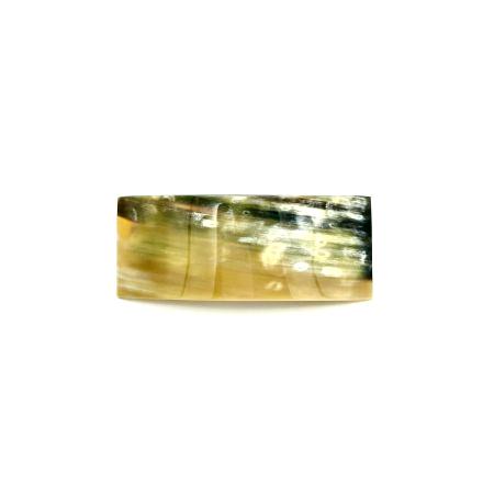 Haarspange aus hellem Horn - mittel, rechteckig, breit - 10 cm