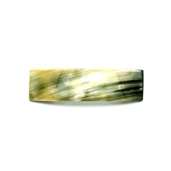 Haarspange aus hellem Horn - groß, rechteckig - 11 cm