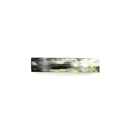 Haarspange aus hellem Horn - mittel,rechteckig,schmal 9,5 cm