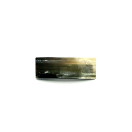Haarspange aus hellem Horn - klein, rechteckig, breit - 8 cm