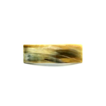 Haarspange aus hellem Horn - mittel, rechteckig - 9,5 cm