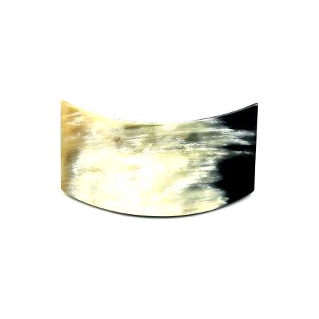 Haarspange aus hellem Horn - mittel, geschwungen - 9,5 cm