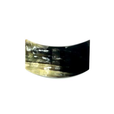 Haarspange aus dunklem Horn - mittel, geschwungen - 9,5 cm