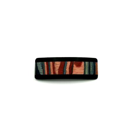 Haarspange aus Holz rot/bunt - klein - 7,5 cm