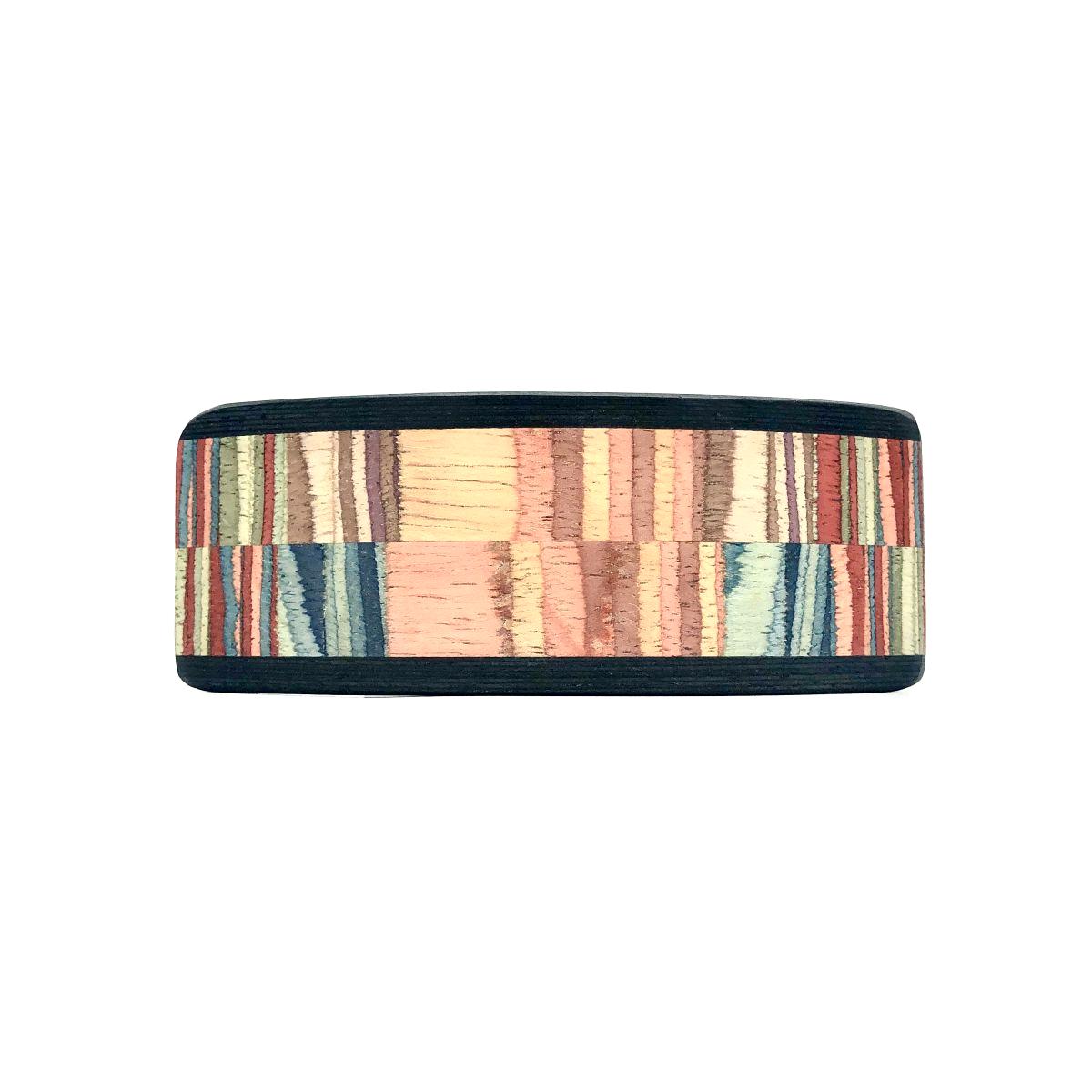 Haarspange aus Holz braun/bunt - groß, breit - 10,5 cm