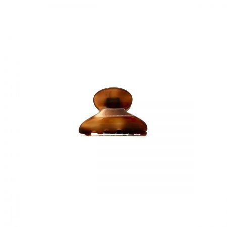 Haarklammer rotbraun - mini - 4 cm