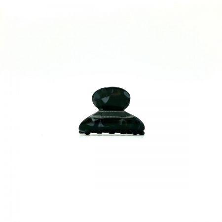 Haarklammer schwarz/silbergrau - mini - 4 cm