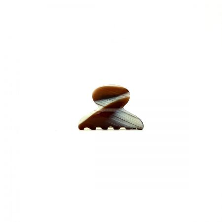 Haarklammer creme/rotbraun - mini - 4 cm