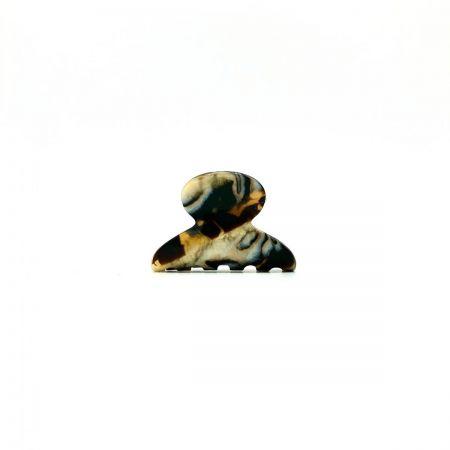 Haarklammer gold/schwarz - mini - 4 cm