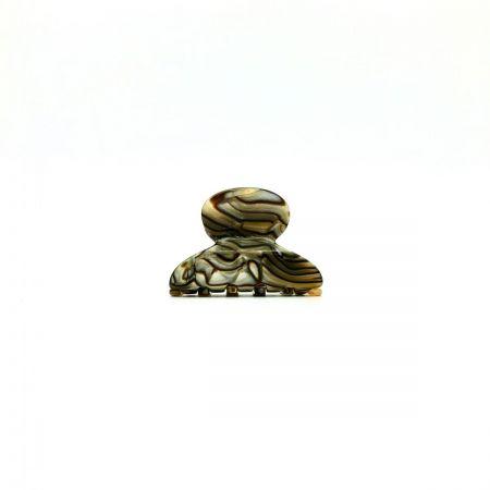 Haarklammer perlmutt/braun - mini - 4 cm