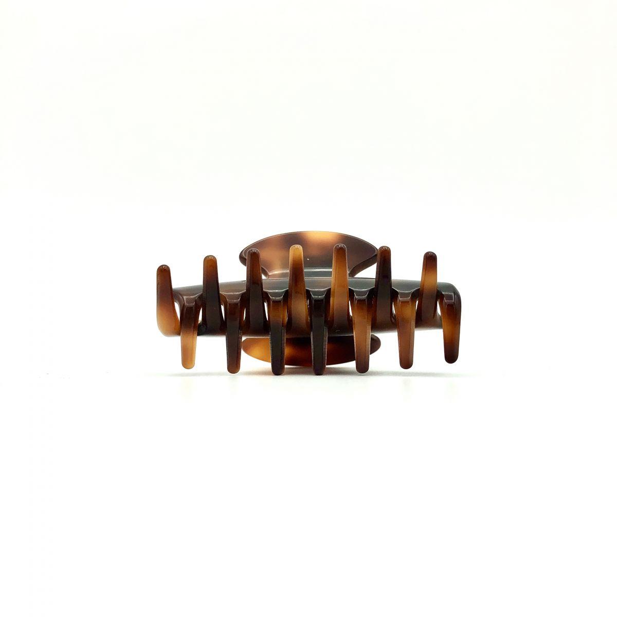 Haarklammer rotbraun - klein - 6,5 cm