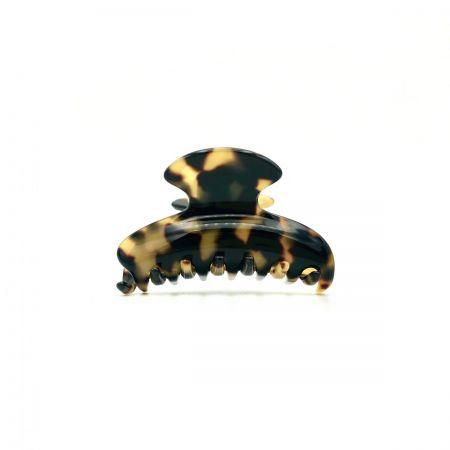 Haarklammer schwarz/honig - klein - 6,5 cm