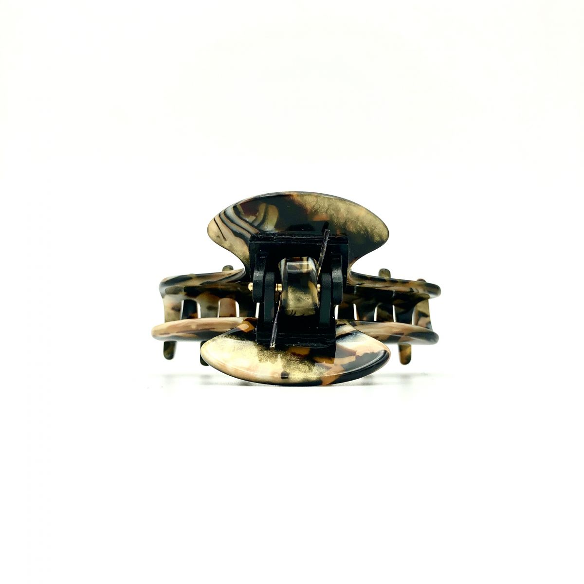 Haarklammer gold/schwarz -klein - 6,5 cm